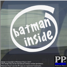 1 x Batman Inside-Window,Car,Van,Sticker,Sign,Vehicle,DC,Comic,Hero,Super,Bane